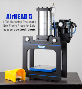 AirHEAD 5 - 4 Ton Benchtop Pneumatic Box Frame Press for Sale