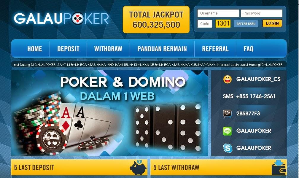 Daftar Judi Poker Online Domino Bank Danamon GalauPoker.com