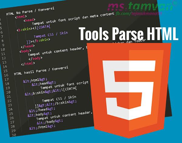 parse, konversi, html