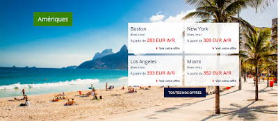 Vol Boston, New York,LOs Angeles, Miami Air France