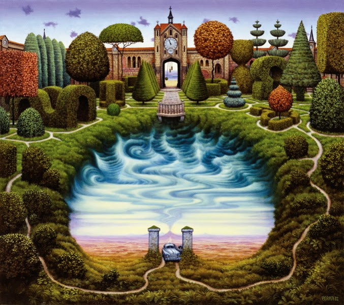 O Jardim Misterioso - Jacek Yerka e seu surrealismo fantástico ~ Polonês
