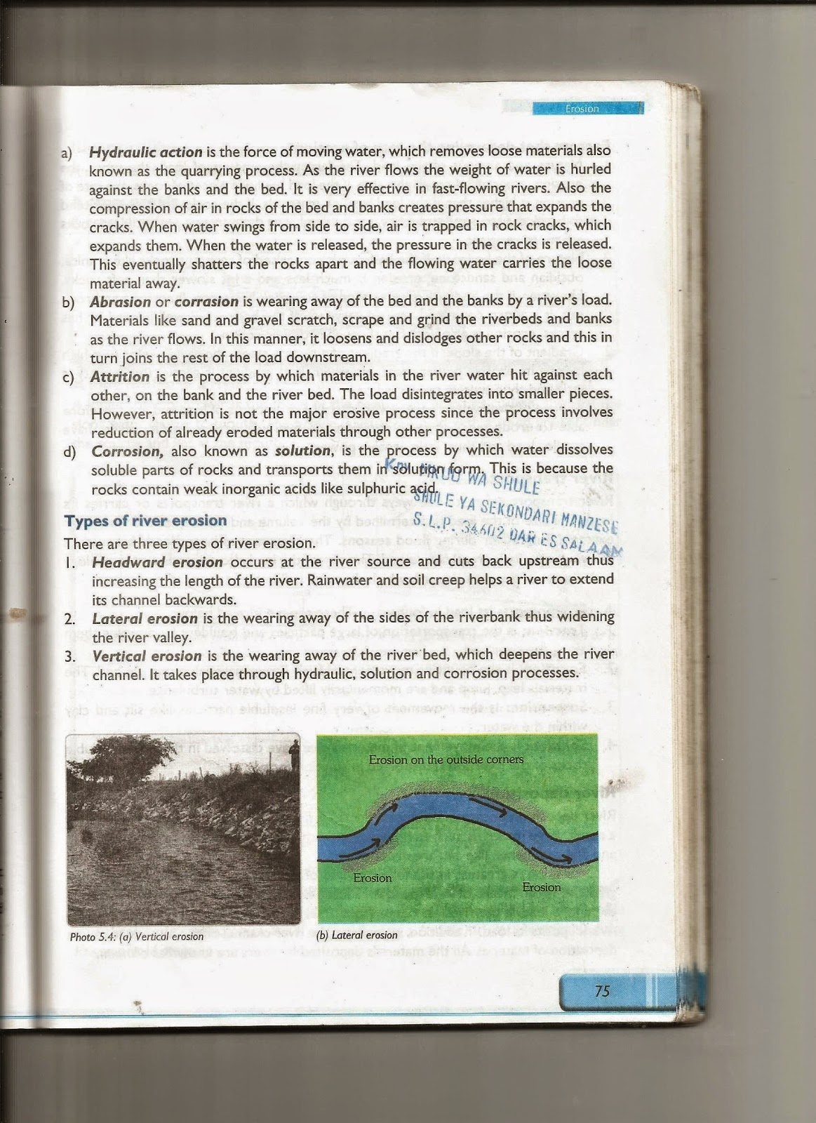 Geography Stu S Blog Erosion And Deposition By Running