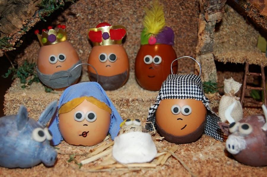 belén hecho con huevos