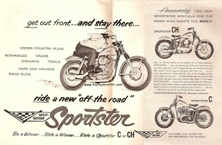 sportster xlch 1958 adversiting