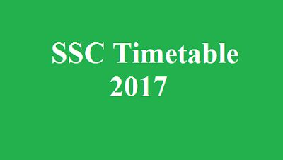SSC Timetable 2017