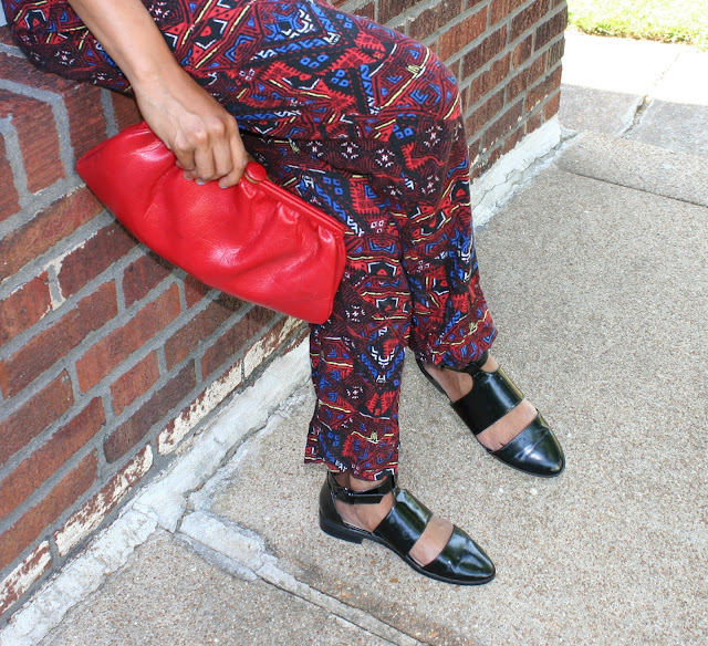 vintage purse, vintage clutch, black cutout flats
