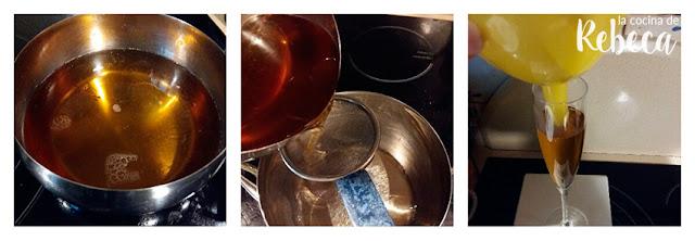 Receta de gelatina de espumoso (cava, champán, sidra) 02