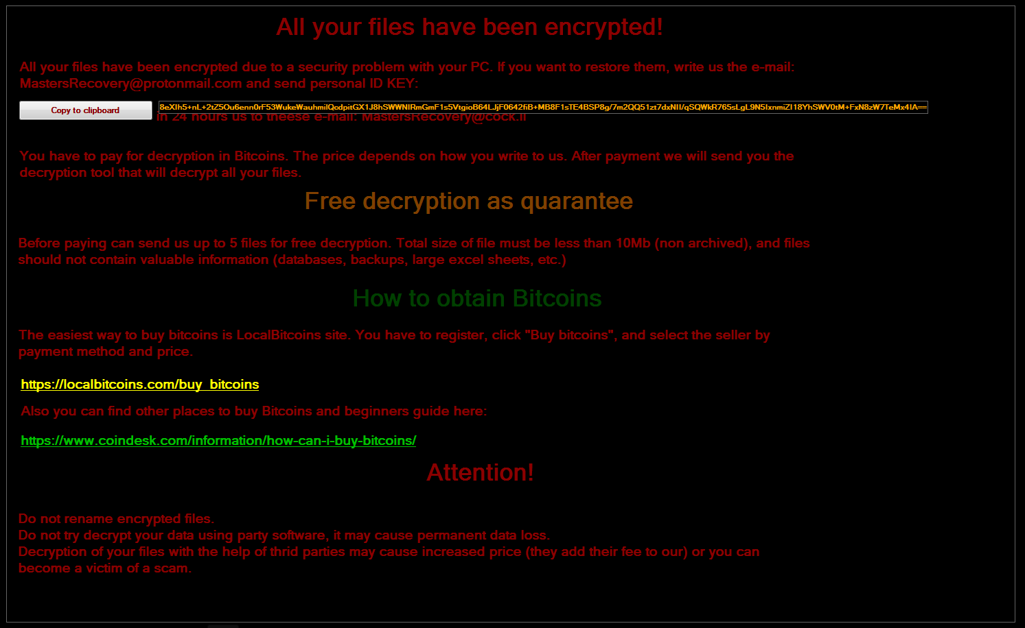 Blaze's Security Blog: This is Spartacus: new ransomware on the block