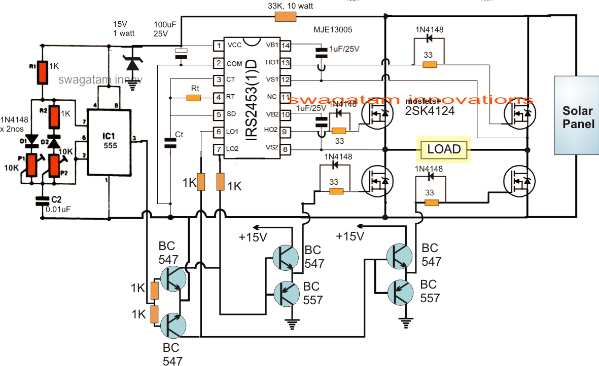 Solar Inverter Circuit Power Energy Diagram On Ac Wiring