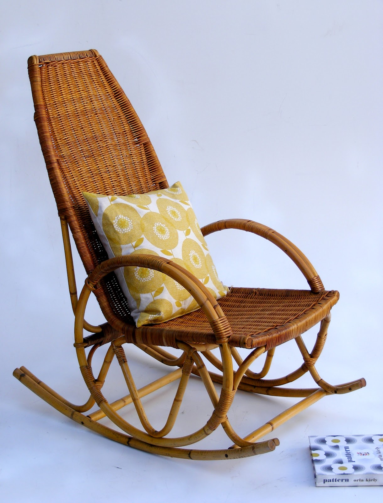 Vintage Wicker Rocking Chair Staples Accessories Vamp Furniture Category Bedside Pedestals