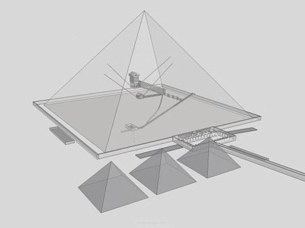 تصميم الهرم من الداخل  Inside Egyptian Pyramid