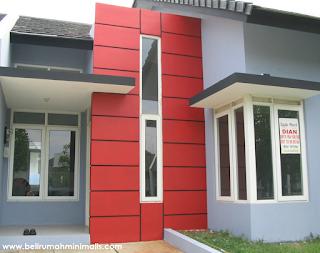 Warna cat rumah minimalis perpaduan merah dan abu abu