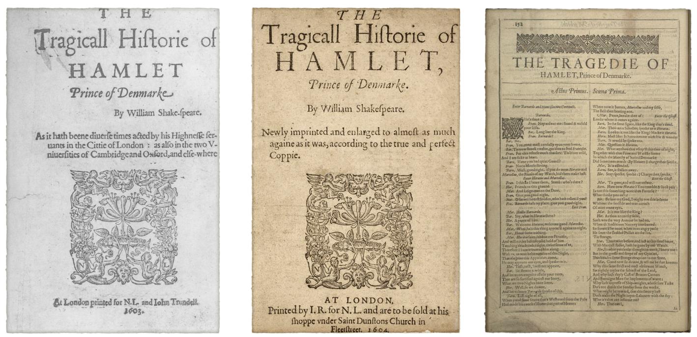 Truepenny Players Hamlet: The Three Texts of Hamlet