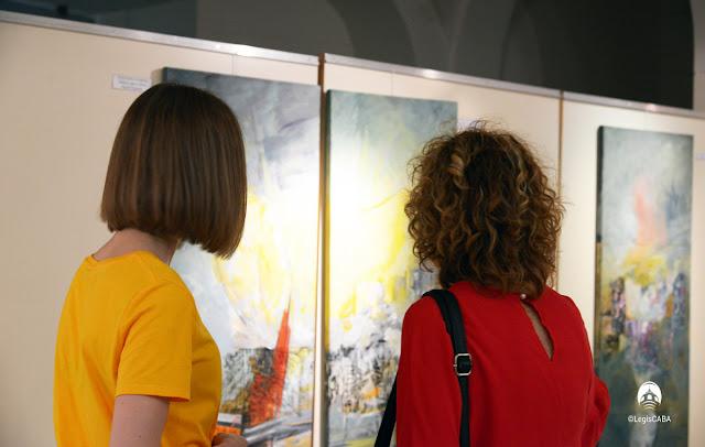 Fue inaugurada la exposición plástica Doy Fe en la Legislatura