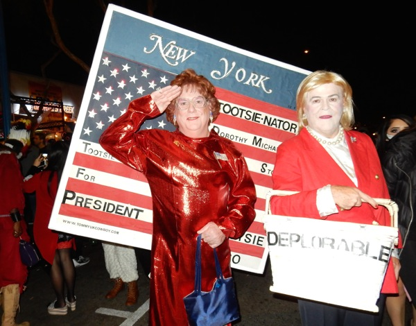 West Hollywood Halloween Tootsie Hillary Clinton costumes
