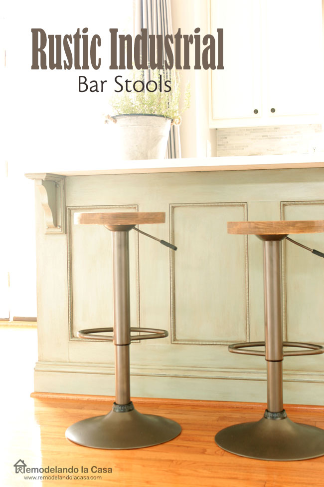 bar stool makeover - with DIY wooden seats