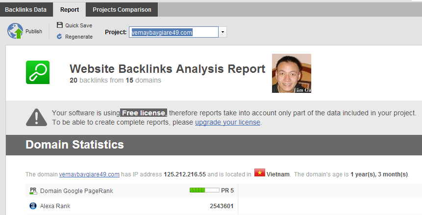 Website Backlinks Analysis Report