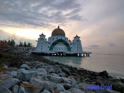 Sunrise Indah Masjid Selat Melaka Matahari Terbit