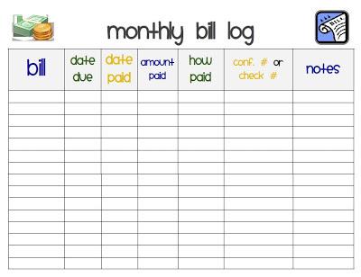 how to put bills in calendar