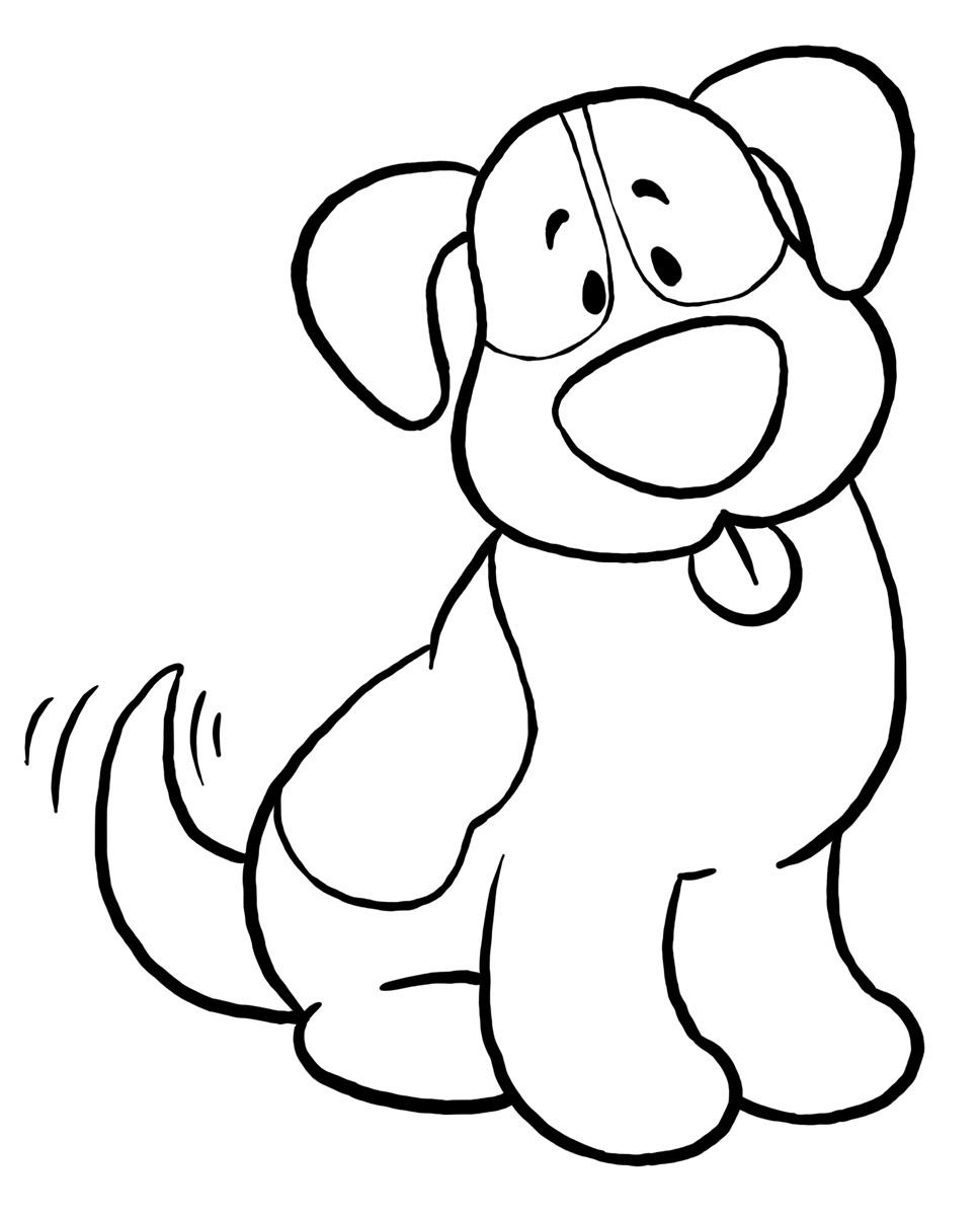 Desenhos De Cachorros Para Pintar