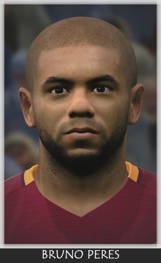 PES 2017 Bruno Peres (A. S. Roma) Face by Bono Facemaker