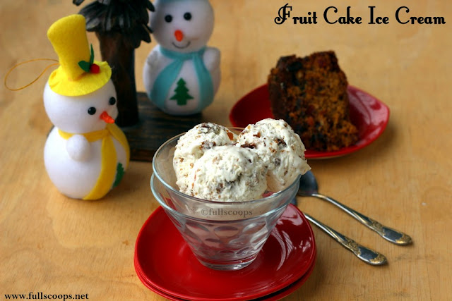 Fruit Cake Ice Cream