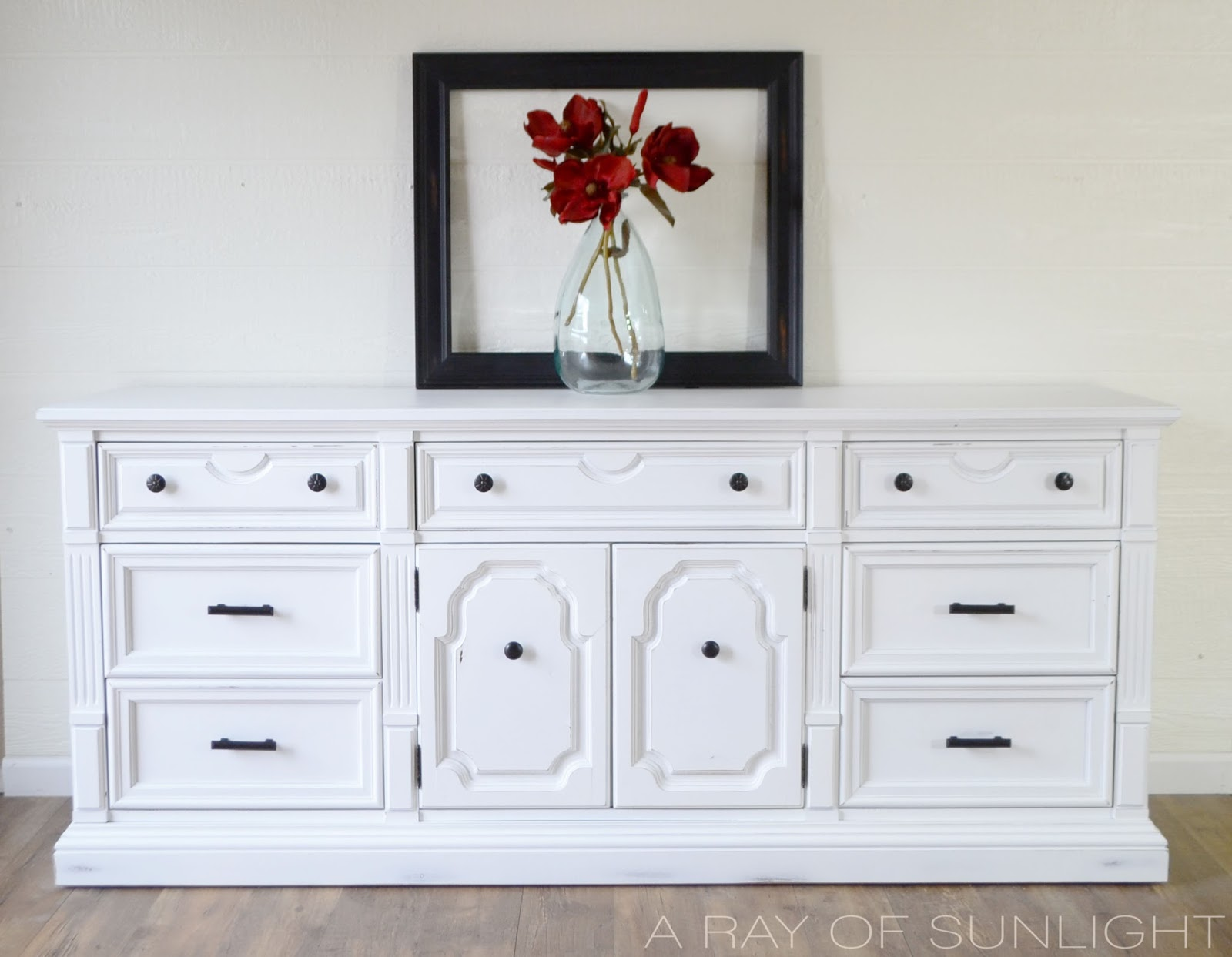 The White Thomasville Dresser Makeover