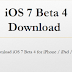 Torrent/Direct Download Links of iOS 7 Beta 4 IPSW Firmware for iPhone, iPad & iPod
