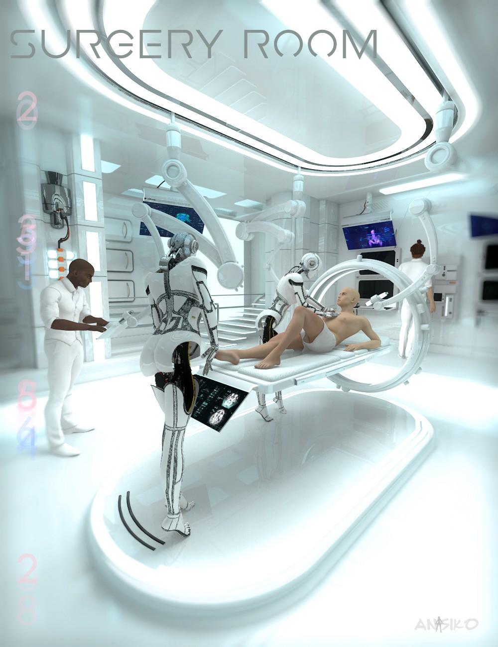 Sci Fi Hospital Room : Download daz studio for free d sci fi surgery room