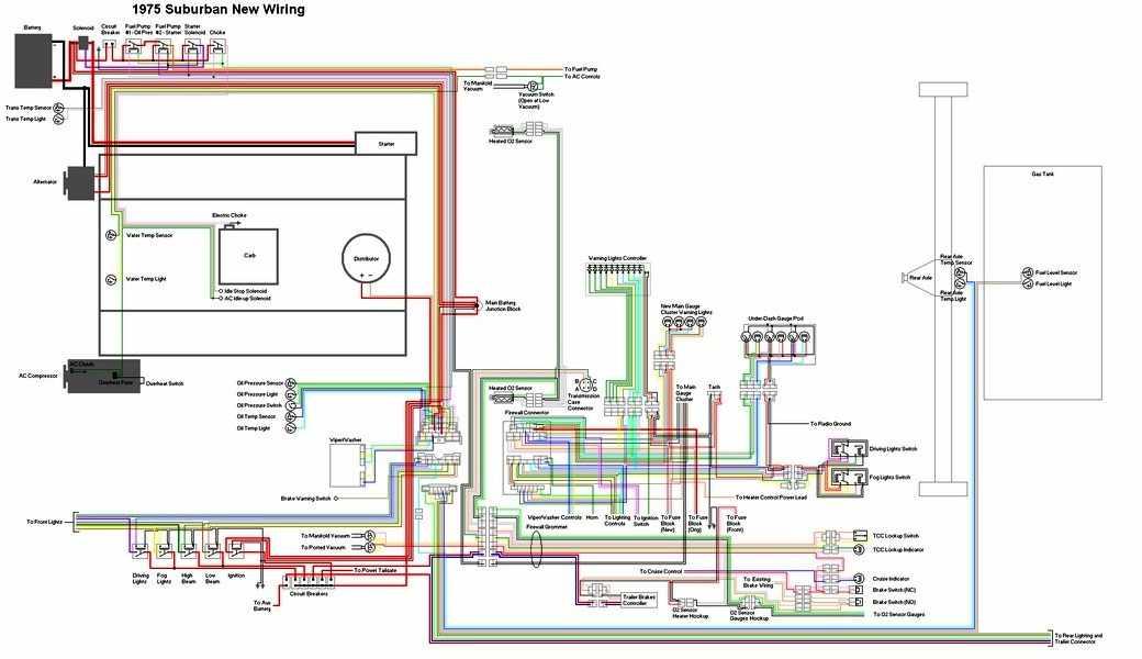 Chevrolet Suburban 1975 Electrical Wiring Diagram   All