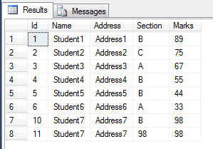 Insert or Save Data Into Database By Stored Procedure Using