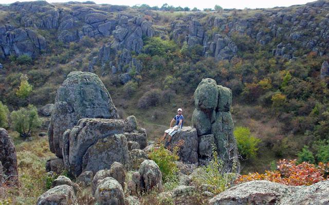 Скалы в Актовском каньоне