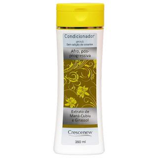 Condicionador óleo de girassol cabelo afro 350 ml.