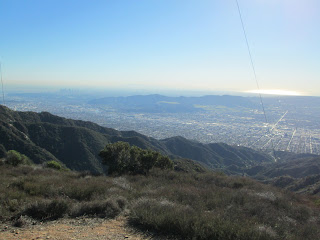View southwest from Verdugo Peak toward Griffith Park