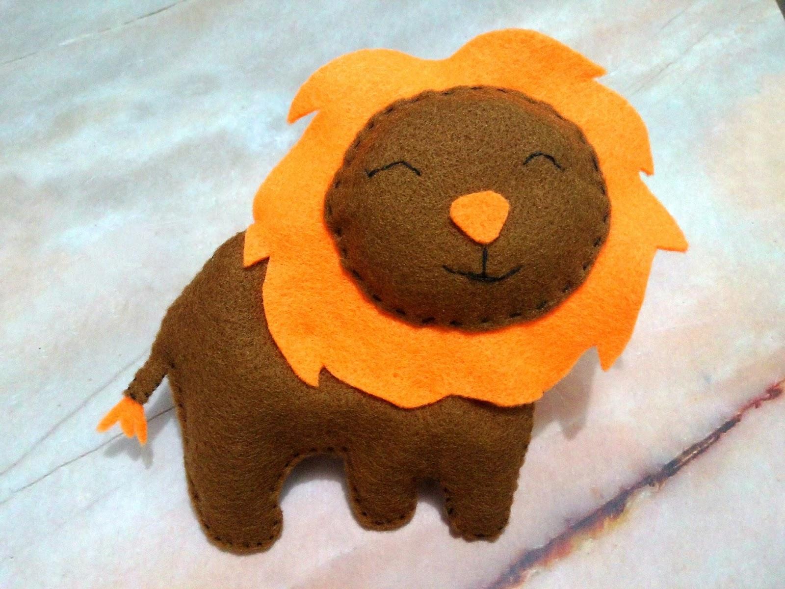 33++ Hewan singa dari kain flanel terbaru