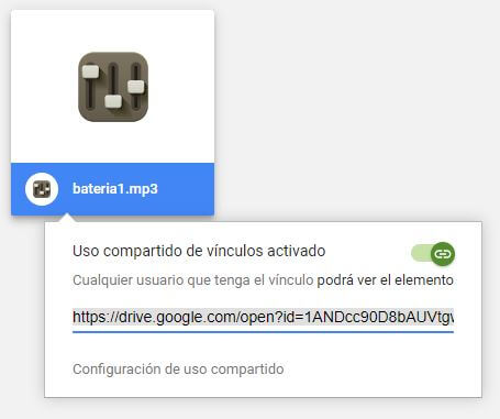 copiar enlace de descarga directa Google Drive