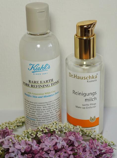 Morgendliche Beauty Routine Gesichtspflege - Reinigung Kiehl's, Dr. Hauschka