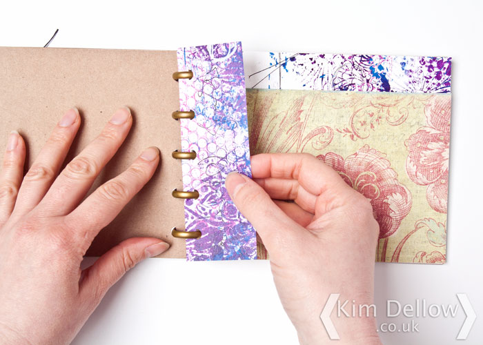 Kim Dellow Shows how to make a Happy Planner Disc bound art journal