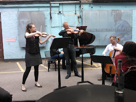 The Faure Quartett in action at Saatchi and Saatchi