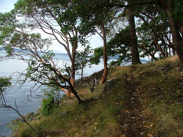 Jones Island hiking trail