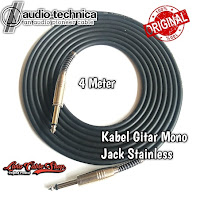Kabel Gitar 4 Meter Jack Akai Mono Stainless Chrome