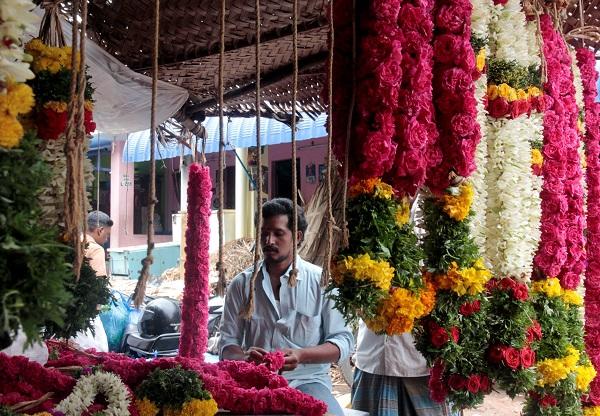marche madurai fleurs