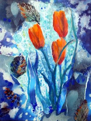 floral, mixed-media