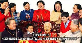 "Tradisi Imlek : Mengunjungi Keluarga Besar / Saling mengunjungi (""Pai Nian [拜年]"")"