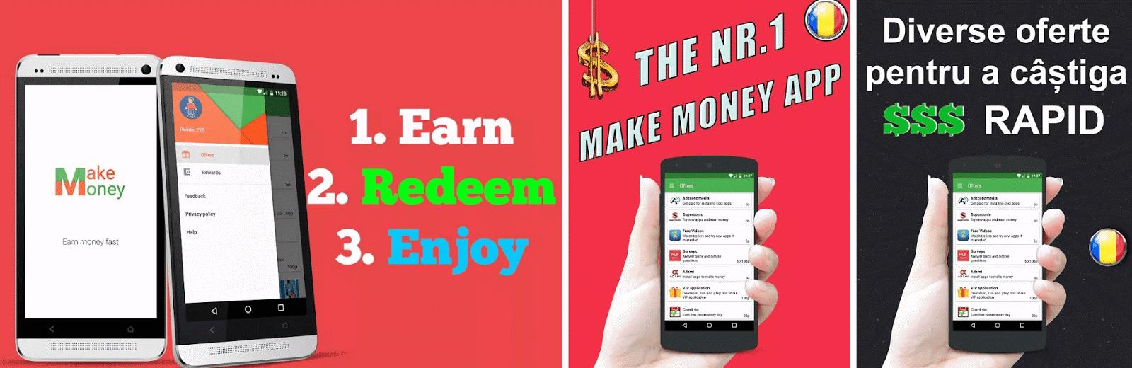 Câștigați bani rapid pe telefon. Obținând o mulțime de venituri