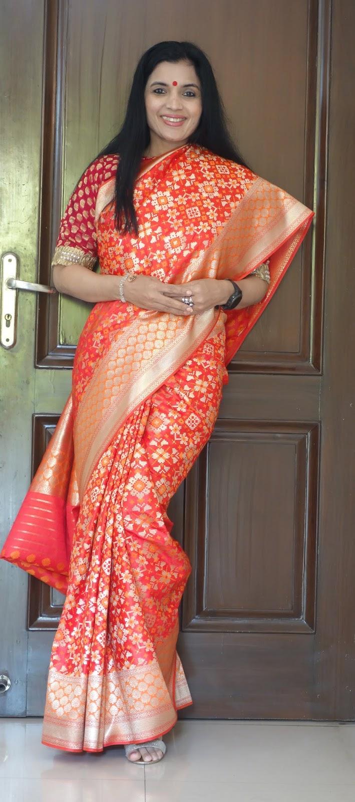 Banarasi katan silk patola saree