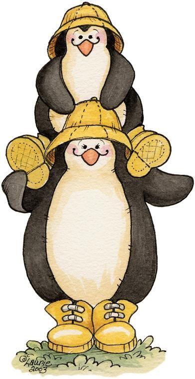 pinguinos dibujo