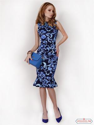 vestidos color azul de graduacion