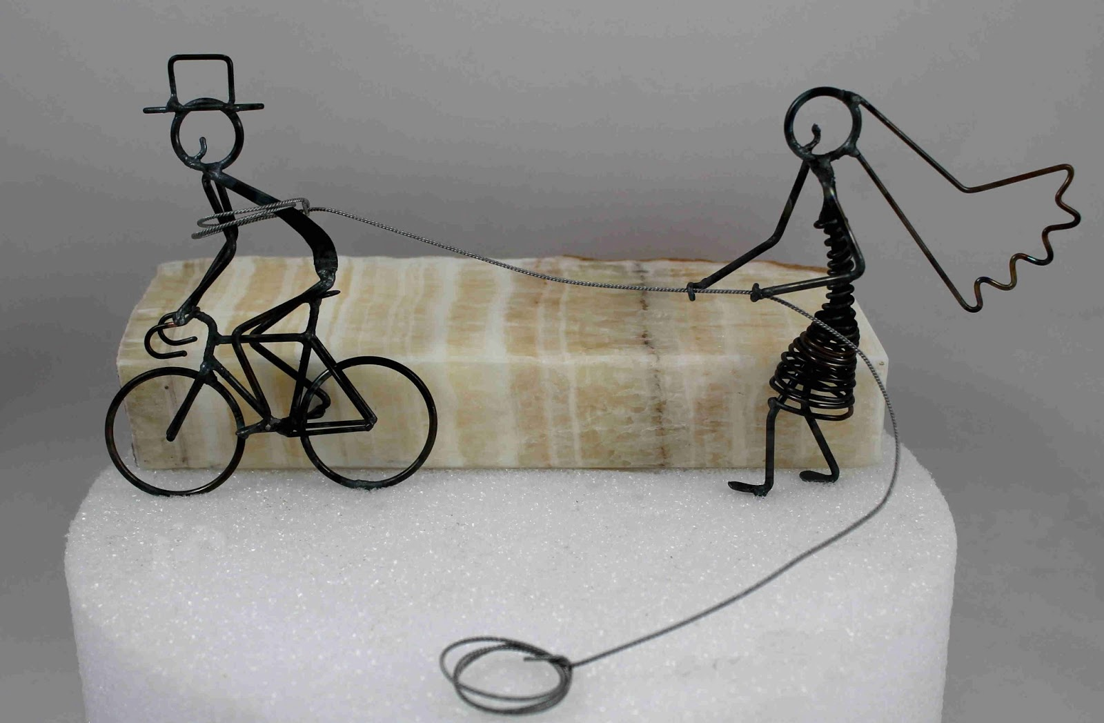 Spring Is Here And Daryl S Rock Wire Works Has Some Great New Cake Toppers Display Rocks For Those Bike Weddings