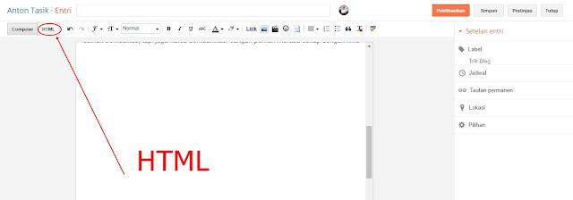 1 Cara Mudah Menambahkan Kotak Script di Postingan Blog dengan Scroll